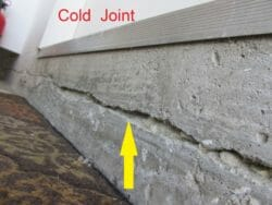 Cold joint