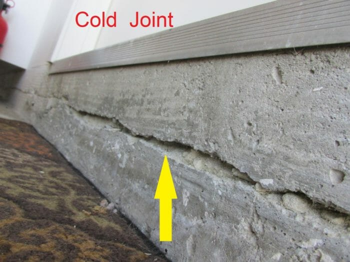 Control joints expansion joints and cold joints in for Concrete freezing