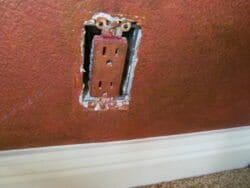 Paint on outlet
