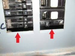 Knock out piece missing in electrical panel