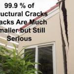 99.9 percent of stucco cracks not real large