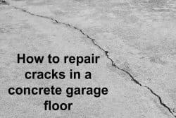 Concrete crack in garage floor