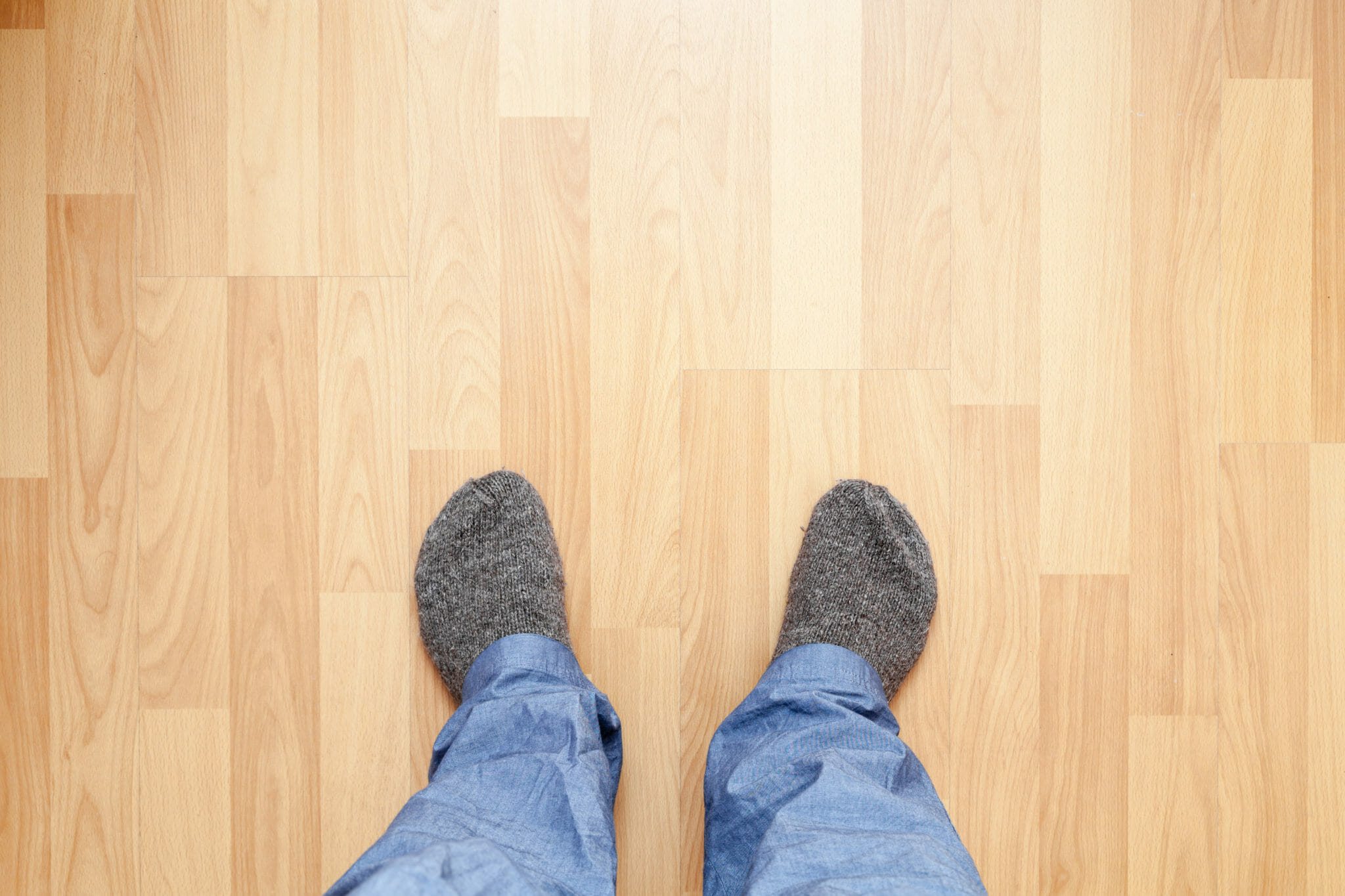 Floor creaking or sloping