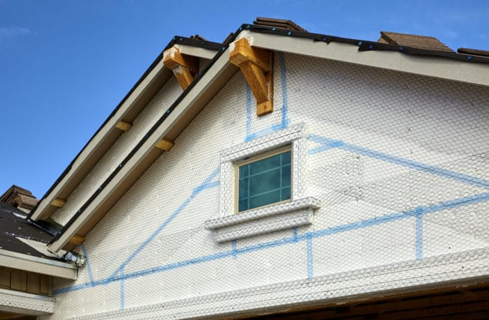 One Coat stucco with lath and foam board