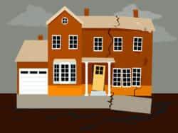 Structural damage and foundation cracks