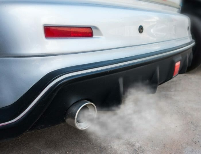 Car exhaust Carbon Monoxide