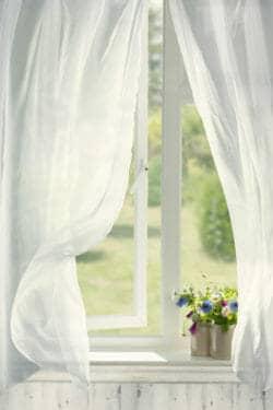 Window curtains breeze