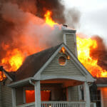House fire fireplace