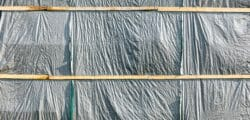 Plastic visqueen for controlling dust, mold spores, asbestos and lead paint particles.