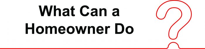 What can homeowners do