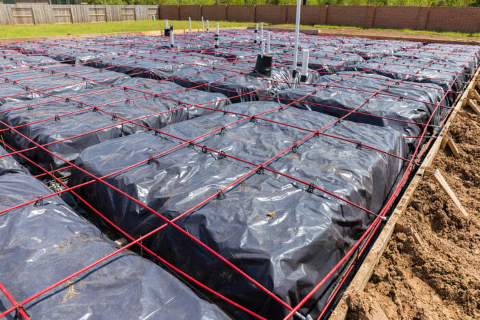 Post tension matt or raft foundation slab