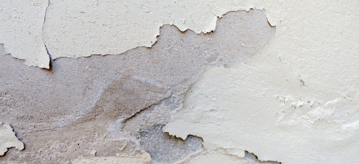 Flaking, blistering, stucco or paint