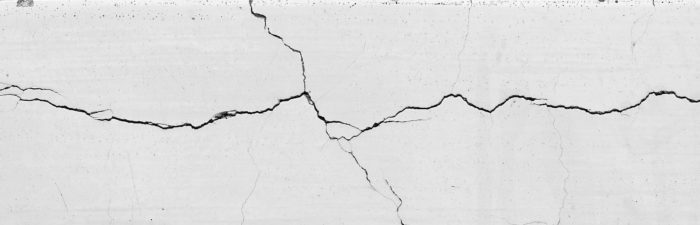 Cracks in stucco and concrete