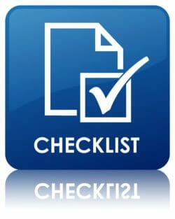 Checklist for sellers