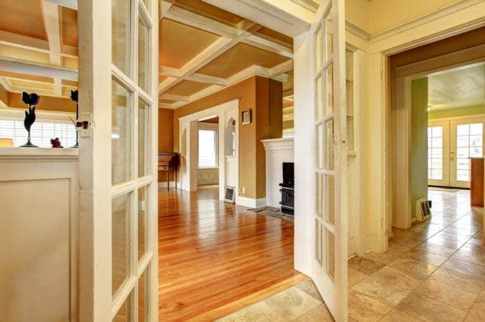 House floor and door