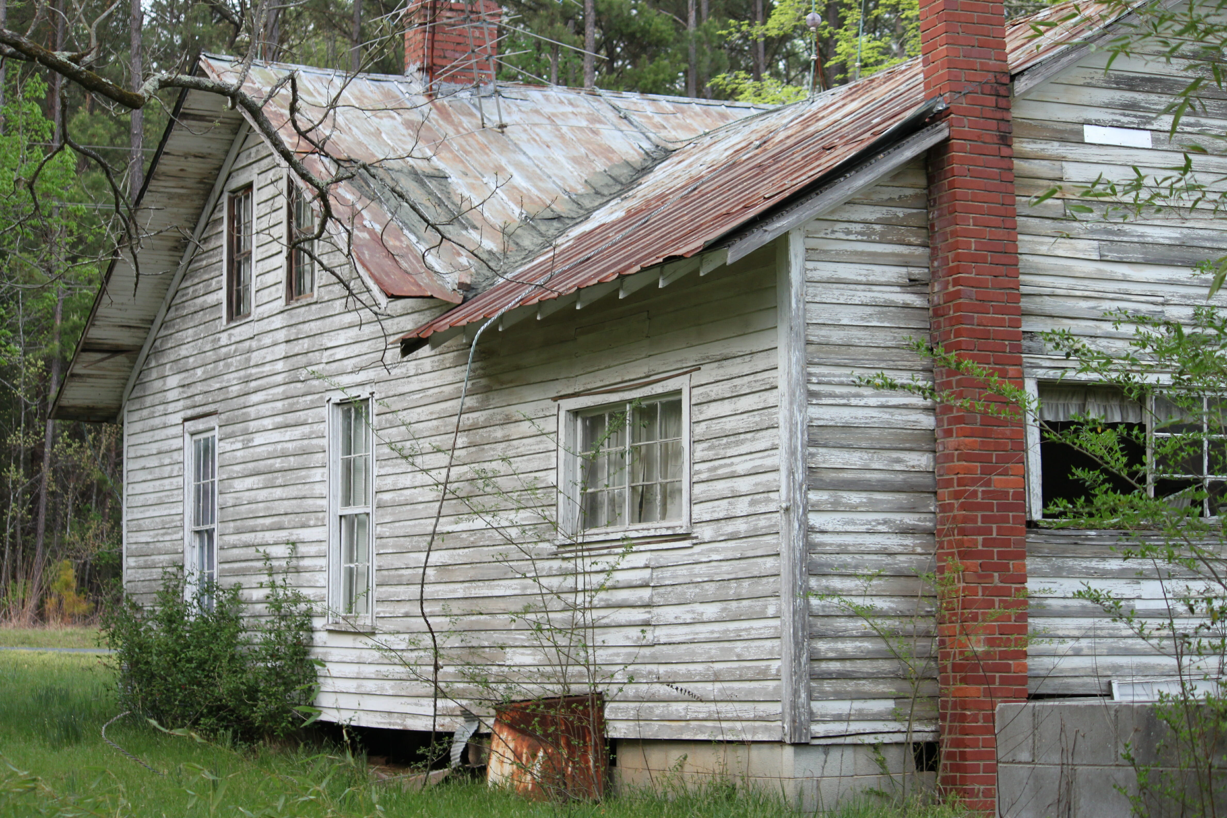Old dilapidated house in bad shape