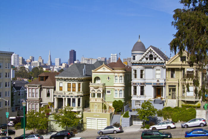 Old houses in San Francisco
