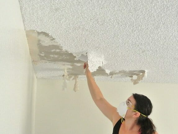 What are the requirements to remove an asbestos popcorn for How to remove popcorn ceiling without water