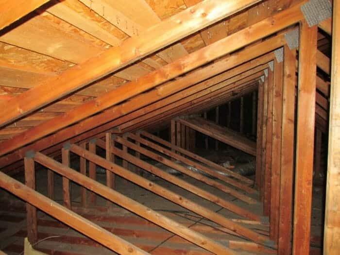 Trusses in attic