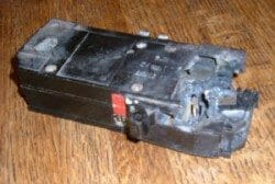 Damaged breaker is a fire safety or shock concern