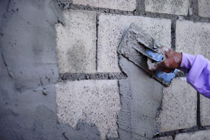 CMU block wall, troweling on stucco or skim coat
