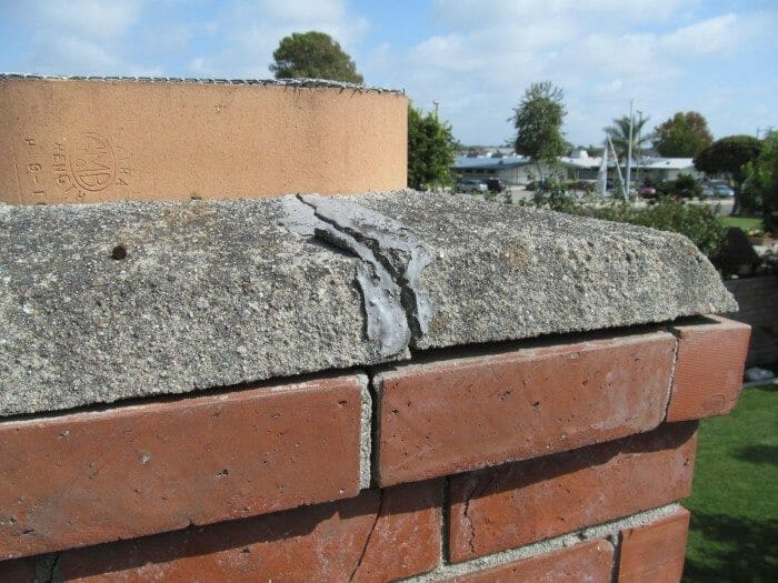 Concrete Chimney Blocks : Concrete chimney cap cracked or damaged buyers ask