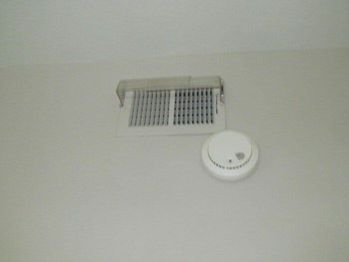 Smoke alarm by vent may fail