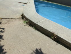 Concrete pool deck has dropped down 3 inches