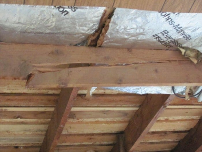 Sagging Roof Is It Damaged Rafters Or Trusses Too Much