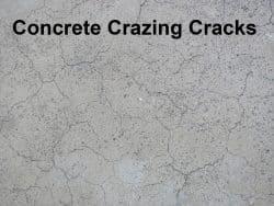 Concrete crazing cracks