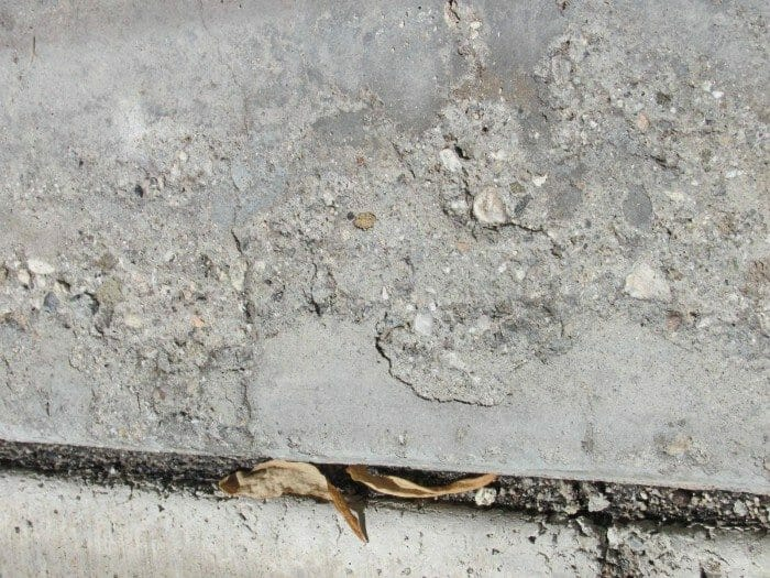 Deteriorated concrete