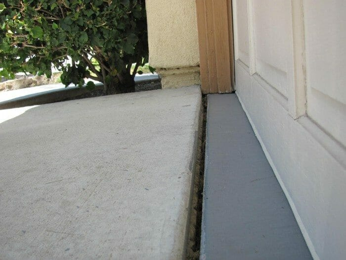 In Some Instances, Buyers Have Put A Small Concrete Speed Bump Across The Garage  Door Opening, Which Blocks The Water From Entering Into The Garage.