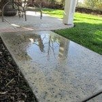Water puddling on walkway is a slip and fall hazard