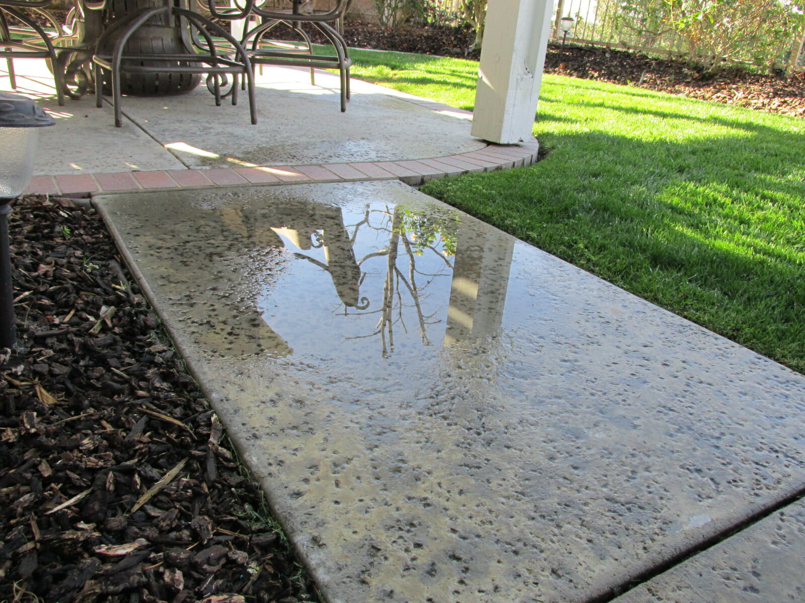 Puddling and Standing Water Patios Driveways Walks Buyers Ask