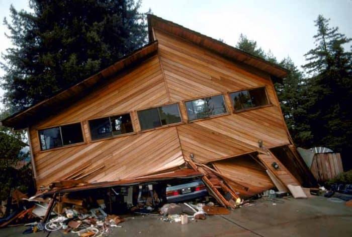 House with Earthquake Damage