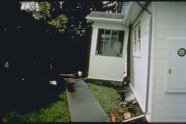 Earthquake house damage
