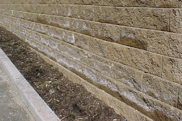 Retaining Wall With Efflorescence White Chalky Powdery