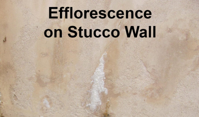 Efflorescence on Stucco Wall