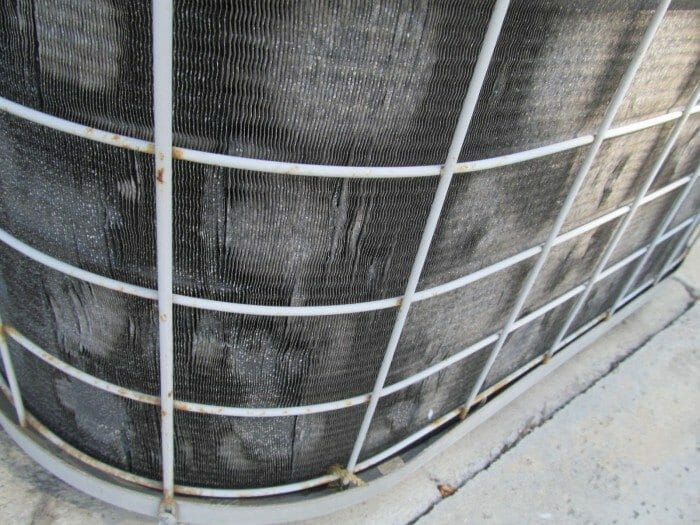 A C Fins Bent Or Damaged On Air Conditioner Condenser