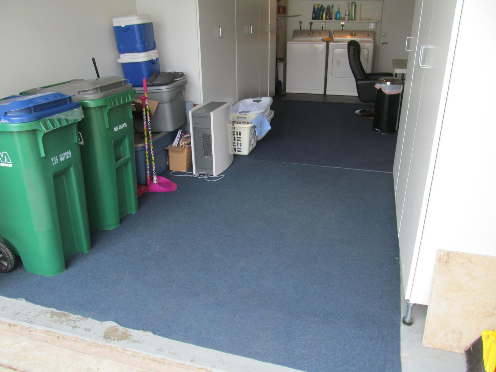 Cracked concrete floor garages or house slab buyers ask for Work out floor area