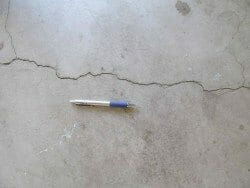 Crack in the garage floor