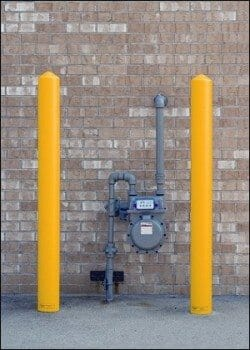 Gas Meter Protection - Steel Post Protection: Called