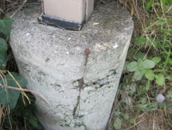 Rock pockets can be a structural concern at times because those areas may be weakened and especially if the rebar is exposed or rusting.