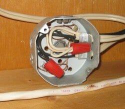 Open electrical J-Box