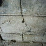 Fireplace crack
