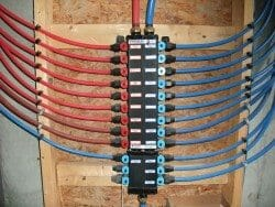 PEX piping in a home