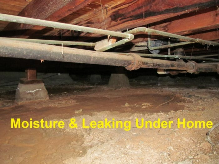 Crawl space leaks and moisture