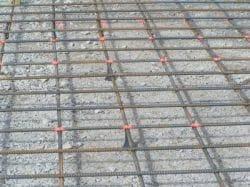 Rebar in concrete slab