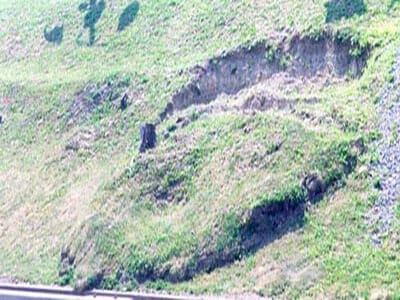 Slope creep scarp evidenced by soil movement