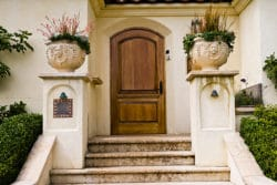 Stucco House with Steps